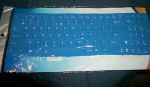 "CaseBuy Silica Gel Membrane Keyboard Protection - Blue - 14"" Long - 4.5"" Width"