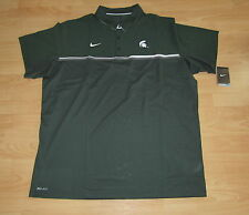 Nike Elite Michigan State Spartans Dri-Fit Coaches Polo Shirt Size Men's Medium