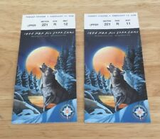 1994 NBA All Star Game Tickets Target Center Minneapolis Minnesota Vintage Pair
