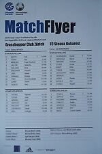 Match Flyer UEFA EL 2010/11 Grasshoppers Zürich - Steaua Bukarest