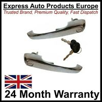 PAIR Door Handles Left & RIGHT 2 Keys T2 Bay Window Camper Van 67 to 1979