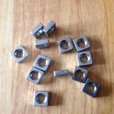 M6 cuadrado de acero zincado tuercas finas (100 en total)