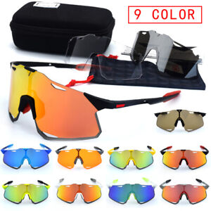100% TR90 Cycling Glasses Sports Goggles Dazzling Windproof Outdoor  + 3 lenses