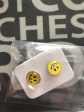Luxury Earring Festival Party Boutique Uk Yellow Emoji Smile Stud Fashion Kids
