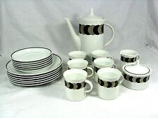70´s Baumann design Rosenthal porcelain coffee service # Kaffee Service 6 Pers.