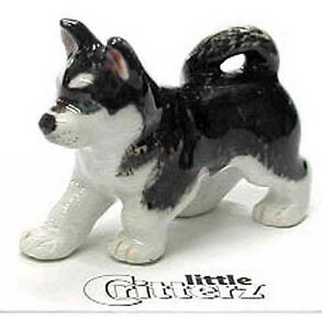 ➸ LITTLE CRITTERZ Dog Miniature Figurine Siberian Husky Bering