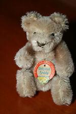 Steiff Original Teddy • Bärenkopfbrustschild • 10 cm • 1950/60er Jahre
