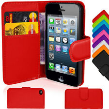 Leather Wallet Pouch Flip Case Cover For APPLE iPHONE 4 4S (L#27)