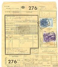 CHEMIN DE FER COLIS POSTAL BELGIQUE 17 FEVRIER 1948