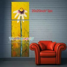 YH098B NO Frame 3pcs Hand painted Oil Canvas Wall Art Home Decor Flower