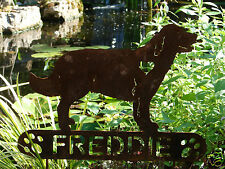 Golden Retriever Garden Plaque PET MEMORIAL Yard Stake Personalized Dog K9