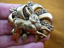 (#B-Bun-3) Little bunny fufu foofoo rabbit love brass clasp pin brooch & pendant