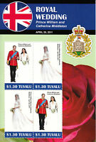 Tuvalu 2011 MNH Royal Wedding 4v M/S II Prince William Kate Middleton Catherine