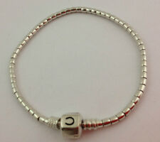 "Authentic Chamilia Sterling Silver Terrazzo Snap Bracelet, 7.5""  1015-0002 New"