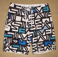 QUIKSILVER 36 / Mens Board shorts Mens Boardies Pre Owned Clean Black White Blue
