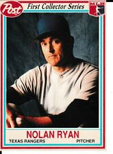 1990 Post Nolan Ryan # 11 Baseball Card Texas Rangers