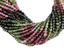 """Beautiful 3mm approx round faceted beads string14"""" Natural Multi Turmaline 1line"""