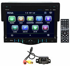 "New Boss BV8970B Single Din 7"" Monitor DVD Bluetooth Receiver+Easy Mount Camera"