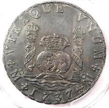 1737-MO MF Mexico Pillar Dollar 8 Reales (8R) - PCGS AU Details - Rare Coin!