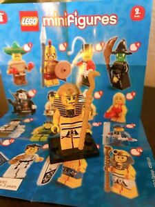 LEGO MINIFIGURES SERIES 2 8684 - Egyptian Pharaoh Complete with base & checklist