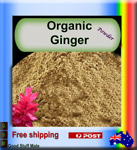 ORGANIC GINGER POWDER VERY HIGH QUALITY 100% Pure & Natural PREMIUM No Fillers