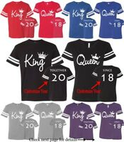 Couple Matching Football Jerseys King Queen Customized Year Together Since Tees