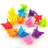 20Pcs/Set Kids Baby Girls Candy Color Hairpins Mini Claw Hair Clips Clamp Flower