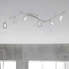 WOFI lámpara LED de techo explid 6 luces níquel cromado ajustable