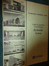 1965 CHRYSLER / PLYMOUTH / DODGE TORQUEFLITE HYDRAULIC SYSTEM SHOP MANUAL ORIG