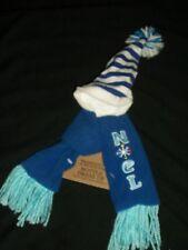 Blue Noel Winter Scarf Hat Wine Beer Bottle Dress Up Holiday Gag Gift Hostess