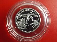 * Russland 1 Rubel 1997 Silber PP *Olympia 1998 / Eishockey (Schub3)