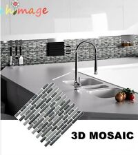 Mosaic Self Adhesive Wall Tile Sticker Vinyl Bathroom Kitchen Home Decor DIY K