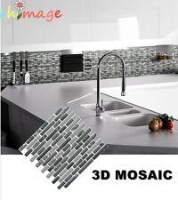 3D Mosaic Self Adhesive Wall Tile Sticker Bathroom Kitchen Home Decor DIY K