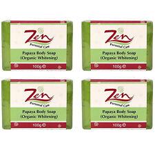 PAPAYA BODY LIGHTENING Soap Organic Pack 4 Exfoliates dead skin