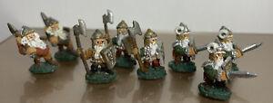 Lot Of 8 Grenadier Wizards & Warriors W06 Gnome Swordsmen/Guards/Axemen PAINTED