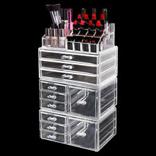 Cosmetic 10 Drawer Makeup Organizer Storage Jewellery Box Acrylic Holder