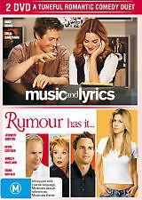 MUSIC AND LYRICS + RUMOUR HAS IT - BRAND NEW & SEALED 2-DISC DVD (REGION 4)