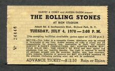 1978 The Rolling Stones Journey April Wine Concert Ticket Stub Rich Stadium