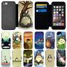 Cartoon Totoro Flip Wallet Phone Case Cover For Apple iPhone 5s 6 6s 7 8 X Plus