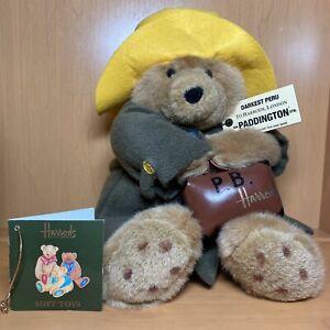 Paddington Bear Harrods London Plush Yellow Hat w/ Original Tag Darkest Peru HTF