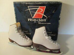 Riedell White Childrens J10 Model 12 Figure Ice Skates New