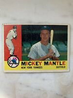1960 Topps Mickey Mantle Baseball Card #350 Vg