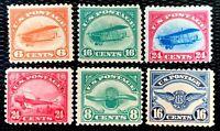 US Airmail #C1-C6 C1 C2 C3 C4 C5 C6 Full Set Well Centered CV:$323