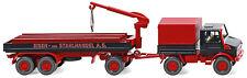 Wiking Ho 1:87 050203 Unimog U 1700 constr. trailer Eisen & Stahlhandel Ag - New