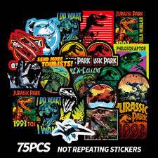 75 Dinosaur Stickers Decoration Jurassic Park to Laptop Skateboard Luggage Decal