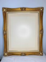 Large Vintage Ornate Wood And Gesso Gold Leaf Gilt Picture Frame 24 x 30