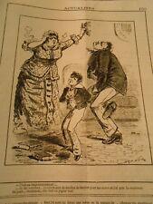 Caricature 1882 - C'est un empoisonnement au feuilles de Laurier pour ma sauce