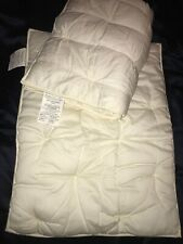 Pottery Barn Supper Fluffy Cream Quilted Cotton/Silk Pair STD Pillow Shams NEW!