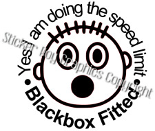 Blackbox Sticker Fitted Funny Car Decal  Young driver Insurance Black box 150mm