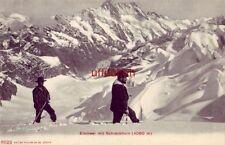 SWITZERLAND EISMEER MIT SCHRECKHORN men mountain climbing